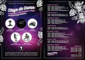 Flyer stage danse